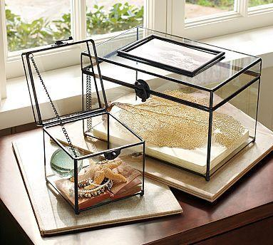 Glass Boxes Pottery Barn
