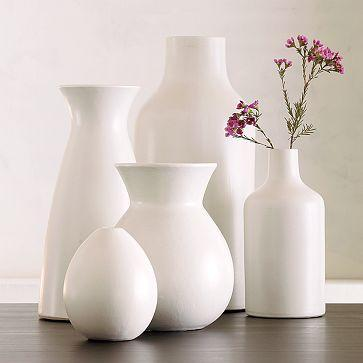 Pure White Ceramic Vase Collection West Elm