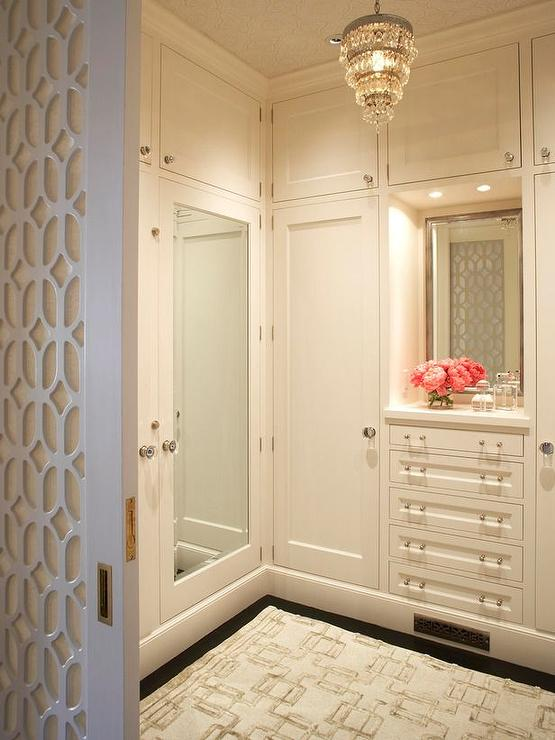 Mirrored Doors Transitional Closet Benjamin Moore