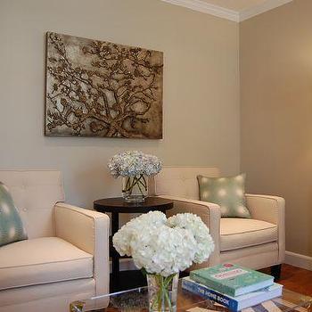 Greige Paint, Contemporary, living room, Benjamin Moore Grant Beige