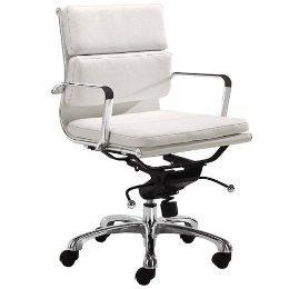 Milan Office Chair - White  Target  sc 1 st  Decorpad & Darius Low Back White Leather Chair