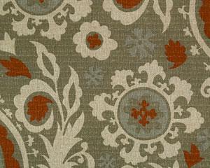 Suzani Plum Brown Taupe Geometrical Fabric