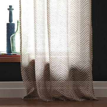 Chevron Printed Window Panel West Elm