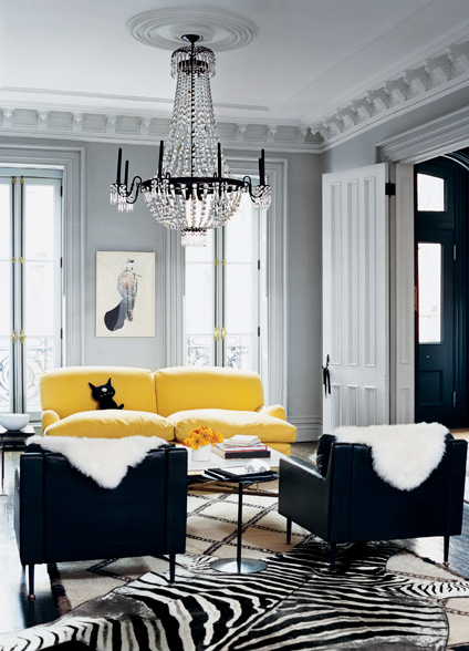 yellow and gray room contemporary living room melanie acevedo