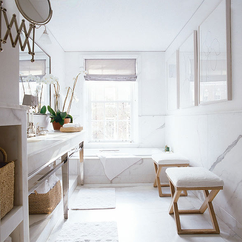 Bathroom Bench, Transitional, bathroom, Timothy Whealon Interiors