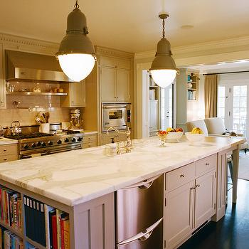 Stacked Dishwashers, Transitional, kitchen, Kristen Panitch Interiors