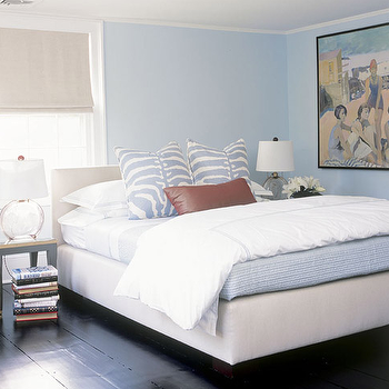 White And Blue Bedding