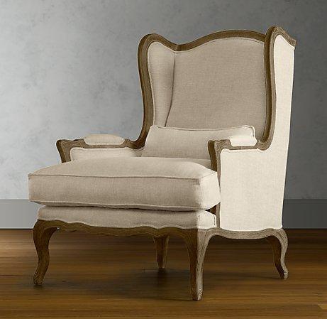 lorraine chair upholstery restoration hardware