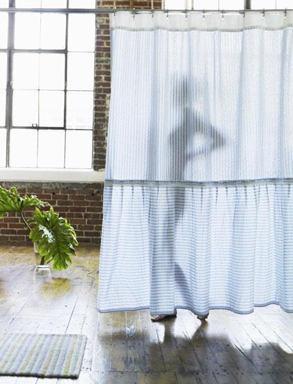 India Rose   Shop   Seersucker Shower Curtain