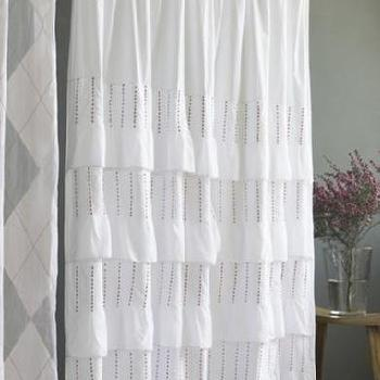 india rose shop pintuck shower curtain