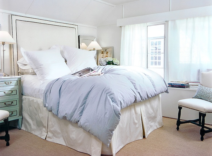 Tall Headboard Transitional Bedroom Ashley Goforth