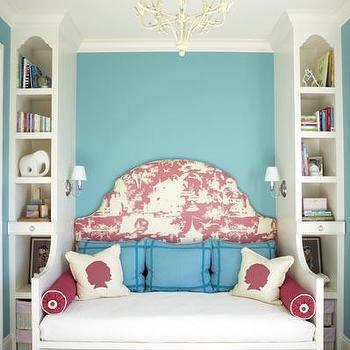 Daybed with Headboard, Contemporary, girl's room, Benjamin Moore Gulf Stream, Massucco Warner Miller
