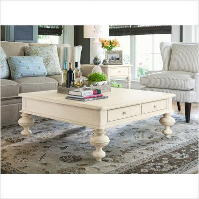 Paula Deen Home Put Your Feet Up Lift Top Cocktail Table In Linen 996801