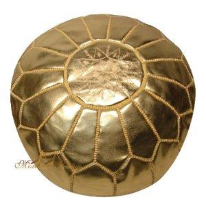 Gold Moroccan Pouf Look 4 Less