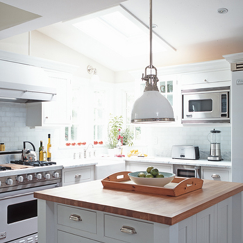 Butcher Block Island, Traditional, kitchen, Julian Wass Photography
