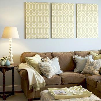 Fabric Art Panels, Contemporary, living room, Massucco Warner Miller