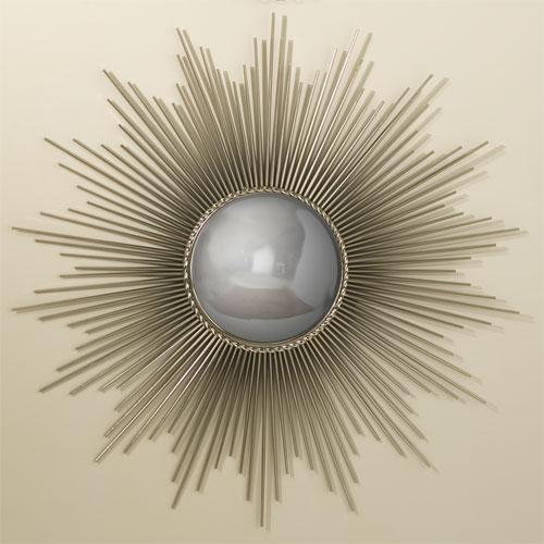 Global Views Sunburst Mirror Nickel: Silver Sunburst Mirror Look 4 Less