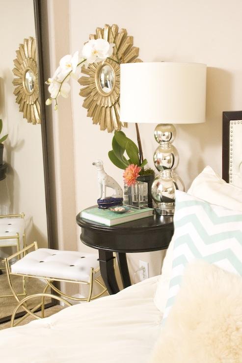 Starburst Mirror Contemporary Bedroom Serendipity