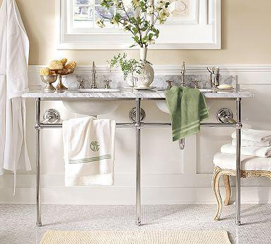 Apothecary Double Sink Console Pottery Barn