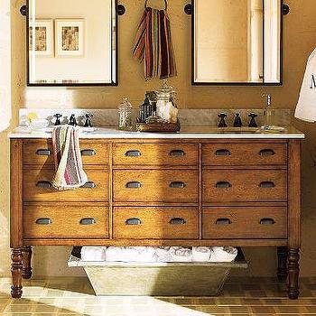 Harvest Double Sink Console, Pottery Barn