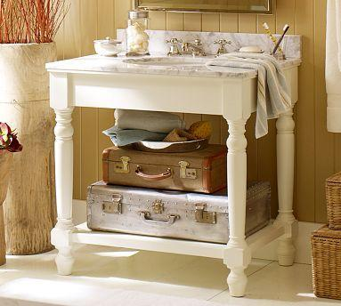 Petaluma Single Sink Console   Pottery Barn Link On Pinterest View Full Size
