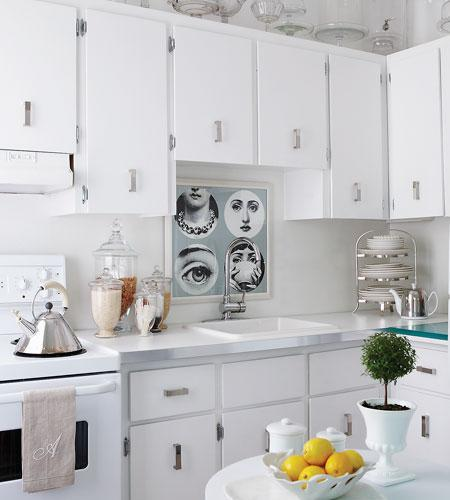 White Kitchen Cabinet Hardware: Hardware Design Ideas