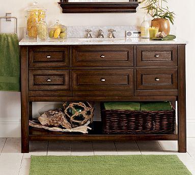Weathered Oak Single Console Sink Weathered Oak