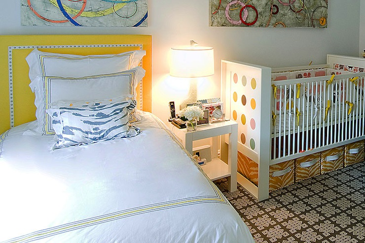 Guest room and nursery transitional nursery christina murphy interiors Master bedroom with a crib