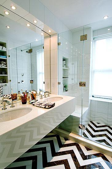 Chevron Bathroom Contemporary Bathroom Christina
