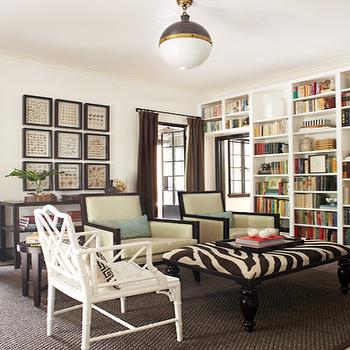 Zebra Ottoman, Transitional, living room, Jeff Herr Photography