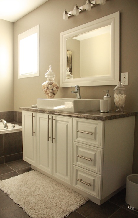 Intellectual Gray Transitional Bathroom Sherwin