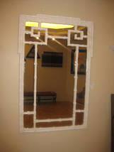 WHITE FAUX BAMBOO MIRROR, Delray Beach