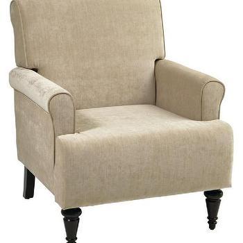 Arm Chair in Vintage Linen, Avenue Six Fontana