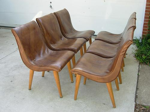 I Have 4 Vintage Russel Wright Slipper Chairs I Want To Reupholster For My  Dining Room. Also, I Want To Refinish My Grandmotheru0027s Table. Here They Are: