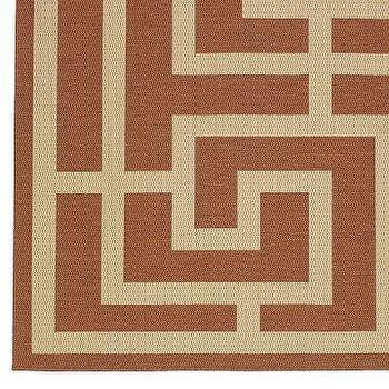 Williams Sonoma Home   Outdoor Geometric Rug