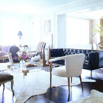 Lucite Coffee Table, Contemporary, living room, Anne Coyle Interiors