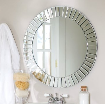 Fortune frameless beveled mirror look 4 less for Decorative mirrors for less
