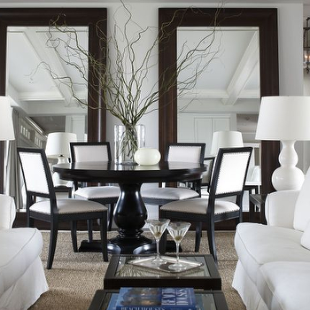 Mirrors. Black And White Dining Chairs