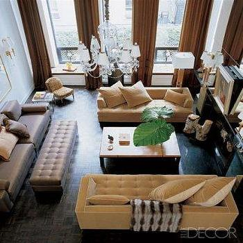 Mustard Yellow Sofas, Contemporary, living room