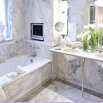Marble bathroom design ideas for Small marble bathroom ideas