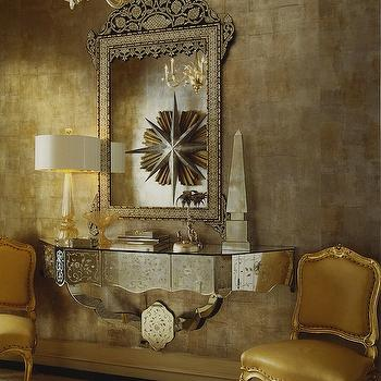 Mirrored Foyer Table, French, entrance/foyer, Jan Showers