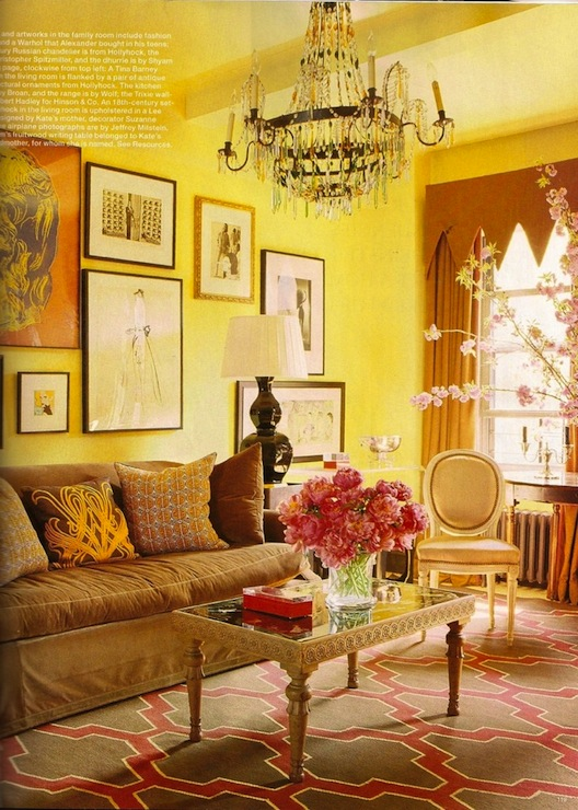 Brown And Yellow Living Room Design Ideas