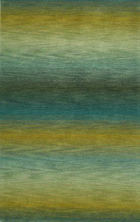 Trans Ocean Ombre Collection Stripes Ivory Rug | Contemporary Rugs