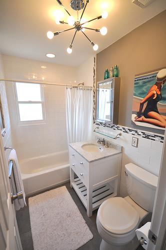 Restoration hardware vanity cottage bathroom martha for Martha stewart small bathroom ideas