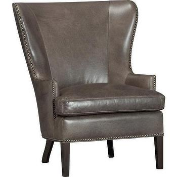 Dylan Leather Chair, Crate&Barrel