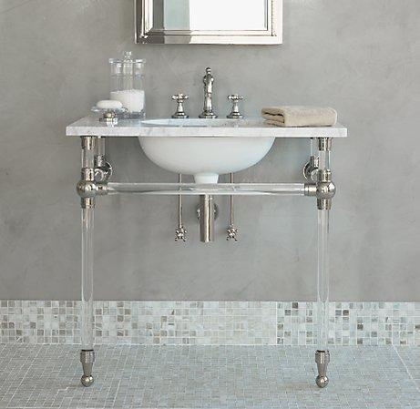 Metal Round Two Leg Single Washstand