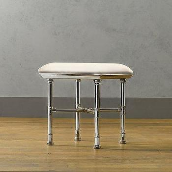 Painted Metal Accent Table Small Pottery Barn