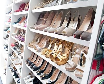 Walk In Shoe Closet