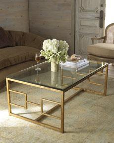 gold glass coffee table - products, bookmarks, design, inspiration