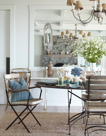 slatted chairs - House Beautiful Dining Rooms